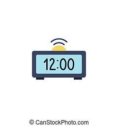 clock digital flat style icon