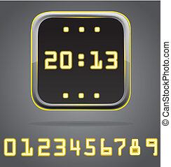 Clock digital icon detailed vector illustration