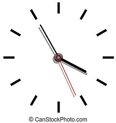 Clock face close up view illustration realistic grandfather...
