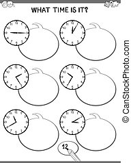 clock educational task for children
