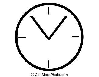 Clock face - A simple black clock face template.