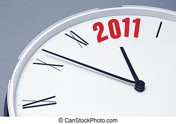 Clock Face and 2010 - Close Up of Clock Face and 2011