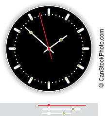 Clock Face Black