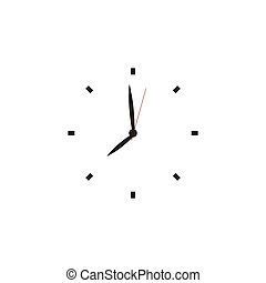 Clock face. Blank hour dial with hour, minute and second...