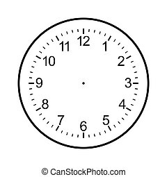 clock face blank isolated on white background - image of...