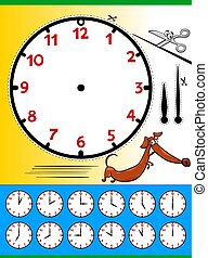 clock face cartoon educational page