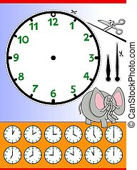 clock face cartoon educational worksheet