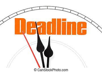 concept of deadline - clock face, concept of deadline