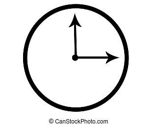 clock face - illustration of a clock face