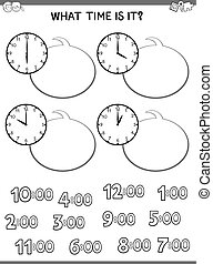 clock face educational game for children
