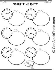 clock face educational task for children