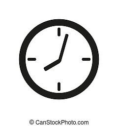 clock face icon on white background