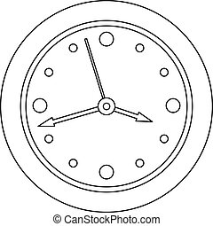 Clock face icon, outline style.