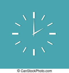 clock face icon- vector illustration