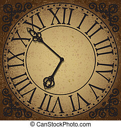 clock face - Vintage background with antique clock face