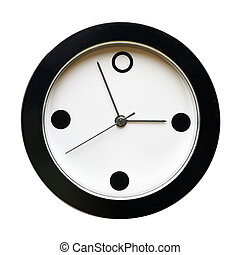 clock face, isolated on a white background.