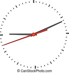 Clock face on white