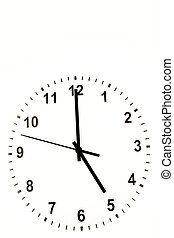 Clock face over white background.