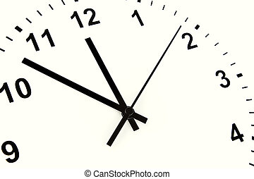 Clock face - Hands pointing to midday on clock face