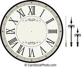 clock face template - vintage clock face template with hour,...