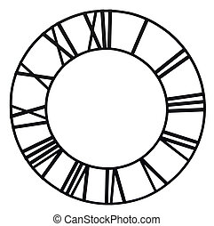 Clock face - The old church clock dial isolated on white ...