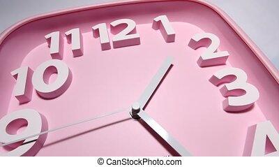 Clock Face Ticking - Close up of a modern analog?clock?face?...