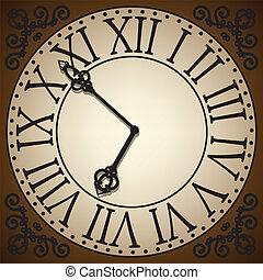 clock face - antique clock face