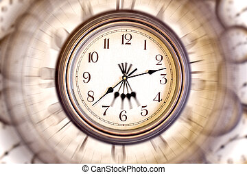 clock face with blur - Blured clock face for a card,...