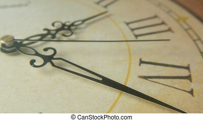 Clock face with Latin digits and hands pointing twenty-three...