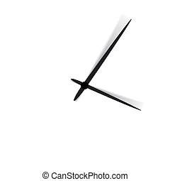 Clock face with shadow on white background