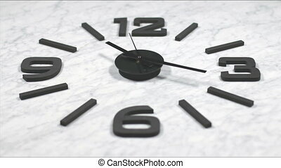 Clock Fast Time Lapse Moving