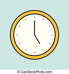 Clock filled outline icon