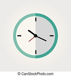 Clock flat icon on a white background