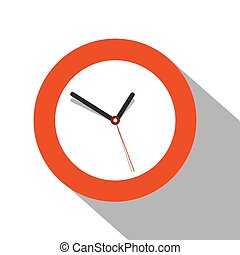 Clock Flat Icon on white Background
