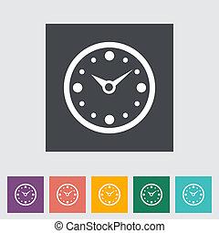 Clock flat icon.