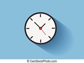 Clock Flat Vectro Long shadow