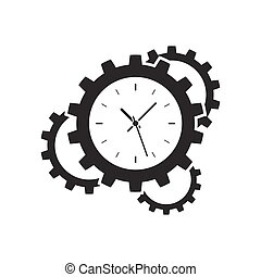 Clock gear icon