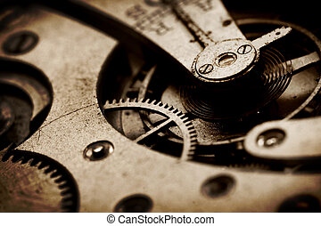 clock gear macro close up