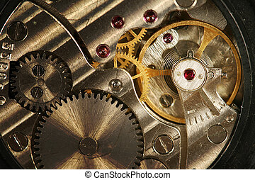 clock gears close up
