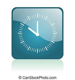 clock glosssy icon