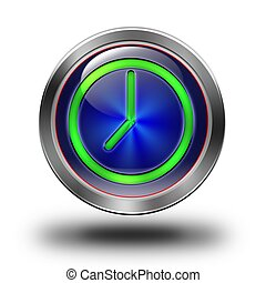 Clock glossy icon #01