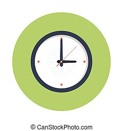 clock glyphs color circle icon