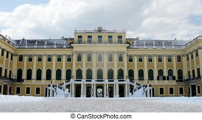 Clock hang over front entrance Shonbrunn palace - VIENNA -...
