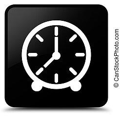 Clock icon black square button