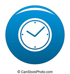 Clock icon blue