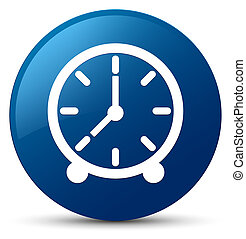 Clock icon blue round button