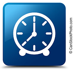Clock icon blue square button