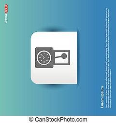 clock Icon - Blue Sticker button