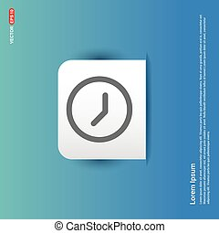 Clock Icon - Blue Sticker button