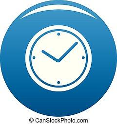 Clock icon blue vector